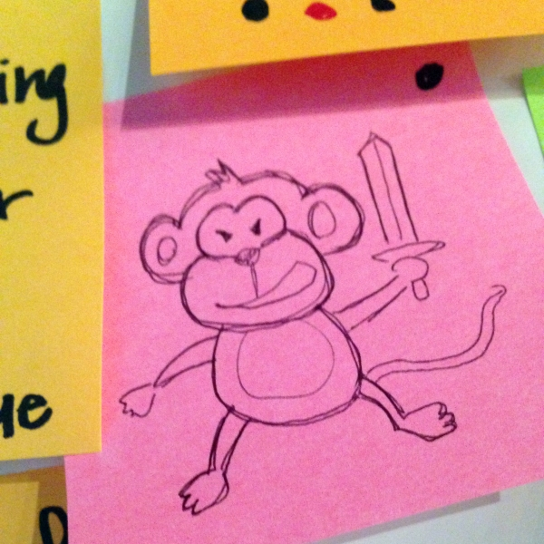 Monkey with a sword