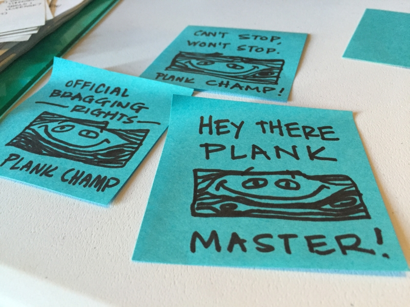 Major awards - Plank master doodles